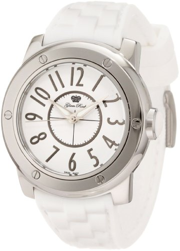 Glam Rock 0.96.2599 Unisex Quartz Watch with White Dial Analogue Display and White Silicone Strap GR50001