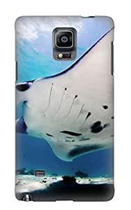 Premium Protection Animal Manta Ray Case Cover With Design For Galaxy Note 4- Retail Packaging