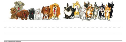 Eureka Suzy's Zoo Wags and Whiskers Tented Name Plates, 6.5-Inches (843716)