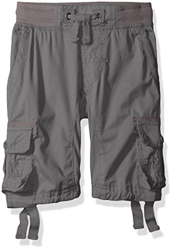 Southpole Kids Jeans - Southpole Big Boys' Jogger Shorts with Cargo Pockets in Basic Solid Colors, Dark Grey (New), Medium