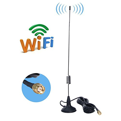 URANT 7DBi Magnet Antenna High Gain Omni Directional 3G 4G LTE GSM 2.4G Antenna Wifi Signal Cell Phone Antenna Booster With SMA Male Connector and 2.5m Long Cable for Mobile Hotspot Wireless LAN