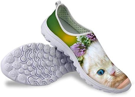 Bigcardesigns Bigcardesigs Floral Kitty Print Sport Shoes Kids Girls