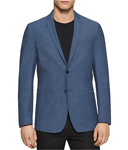 Calvin Klein Premium Reversible Slim Fit Sport Coat Jacket (Large, Marlin) by Calvin Klein