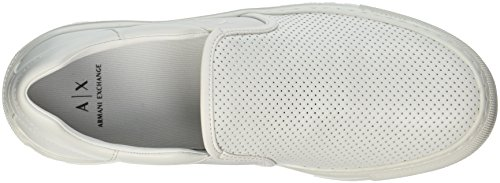 Slip Exchange Armani on Perforated White A X Sneaker Men wXfSS7q