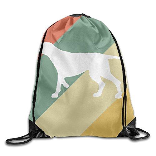 (Pointer Dog Vintage Silhouette Unisex Outdoor Rucksack Shoulder Bag Sport Drawstring Backpack Bag)