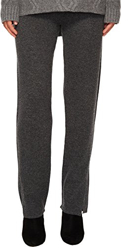 Cashmere In Love Women's Tina Straight Fit Knit Pants Grey Large by Cashmere In Love (Image #3)