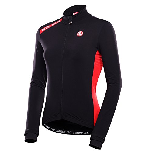 Women and Men's Long Sleeve Bike Bicycle Riding Cycling Jersey Couple Models Jacket Windproof Thermal for Outdoor (Women, XL)