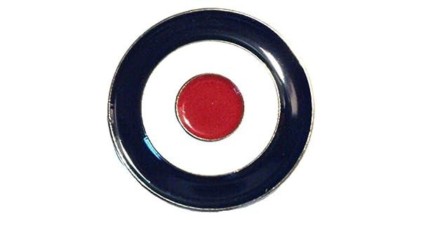 Rojo Blanco y Azul MOD Target RAF Roundel Scooter insignia de metal esmaltado: Amazon.es: Hogar