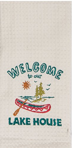 Kay Dee Designs Lake House Embroidered Kitchen Towels Set - Hand Towels with Boats and Paddles, Outdoor Camping Boating Dish Cloths by Kay Dee (Image #1)