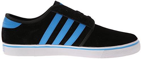Adidas Chaussure De Skate Seeley - Mens Noir / Solaire Bleu / Blanc