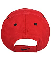 NIKE Toddler 12/24M Just Do It Sports Hat Adjustable Sun Cap (Gym Red w/ Signature Black Swoosh)