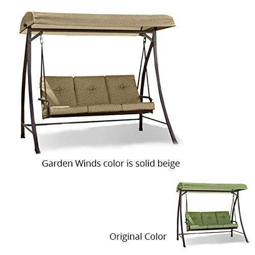 Garden Winds Curved Roof 3 Person Swing Replacement Canopy