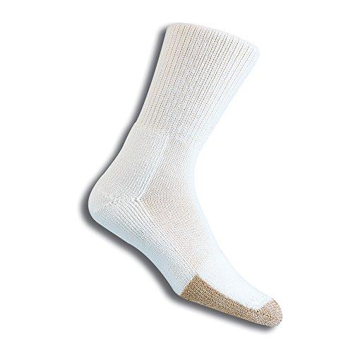 Thorlos Unisex TX tenis grueso acolchado calcetín de tripulación, blanco, XLarge