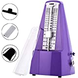 Mechanical Metronome Pyramid with Bell for Piano/Guitar/Drums/Bass/Tuner Combo/Violin (Purple)