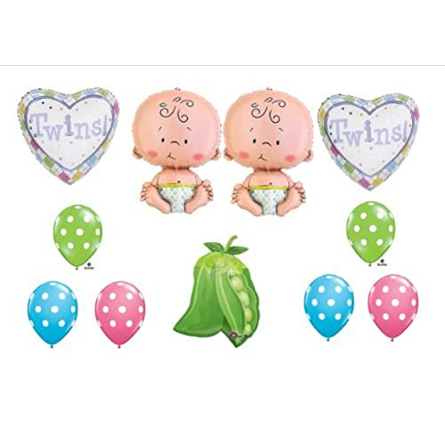 Twin Baby Shower Decorations Amazon