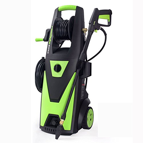 PowRyte Elite 2400 PSI 2.0 GPM Electric Pressure Washer, Power Washer with Brushless Induction Motor, Hose Reel, Extra Turbo Nozzle and 5 PC Quick-Connect Spray Tips (Certified (Elite Pressure Washers)