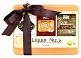 Nuts Tin Box, Summer Party Mix, Whiskey & Beer Nuts, 3 Infused Flavors, Irish Stout Cashes, Jamaican Lager Peanuts, Kentucky Bourbon Almonds, Hand Crafted, Small Batch, Made in USA, 16oz