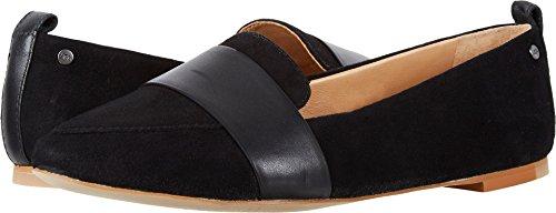 (UGG Womens Jonette Suede Pointed Toe Loafers Black 8.5 Medium (B,M))