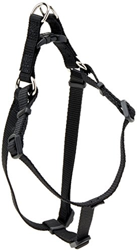 Coastal Pet Products DCP6345BLK Nylon Comfort Wrap Adjustable Dog Harness, 3/8-Inch, Black