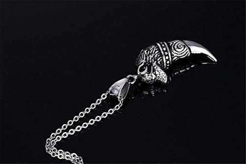 Vnox Pendentif en acier inoxydable petit dentelle de loup en acier inoxydable avec chaîne de câble gratuit
