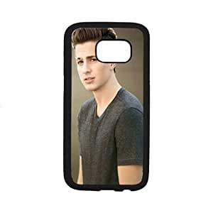 Custom Cover Case Fashion Charlie Puth Time For Samsung Galaxy S7 edge SXSWZ948589