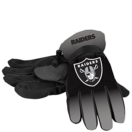 Forever Collectibles NFL Oakland Raiders Insulated Gradient Big Logo Gloves, Team Colors, Large/X-Large ()