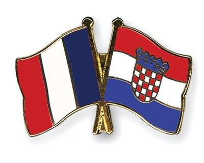 5 pi/èce Pack pins Drapeaux amiti/é France//Croatie