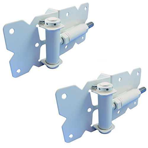 Vinyl Fence Self Closing Gate Hinges (White Pair)