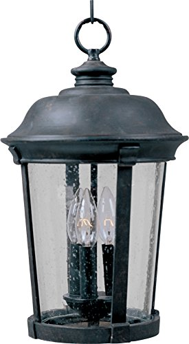 Dover Cast - Maxim 3029CDBZ Dover Cast 3-Light Outdoor Hanging Lantern, Bronze Finish, Seedy Glass, CA Incandescent Incandescent Bulb , 40W Max., Dry Safety Rating, Fabric Shade Material, Rated Lumens