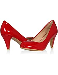 Mid Heels Pumps for Women Round Toe Classic Formal Shoes...