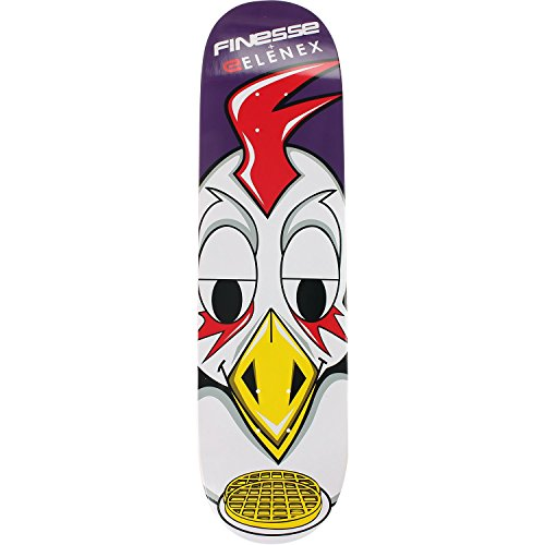 Finesse Elenex Chicken & Waffles Skateboard Deck -8.25 Deck - Assembled AS Complete Skateboard