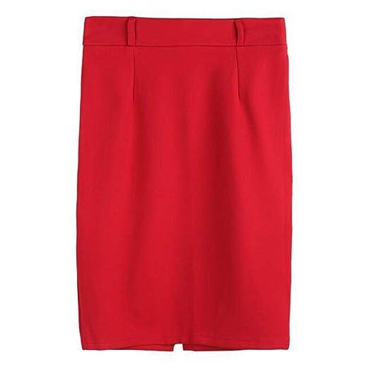 ChenYongPing Mujer Faldas Señoras Lápiz Falda Oficina de Trabajo ...