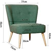 Modern Linen Fabric Sofa, Futon Couch Mid-century Style Single Sofa With Wooden Legs Creative Lazy Sofa Lounge Chair-B 53x75x81cm(21x30x32)