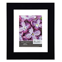 GALLERY SOLUTIONS 8x10 Black Float Frame For Floating Display of 5x7 Image