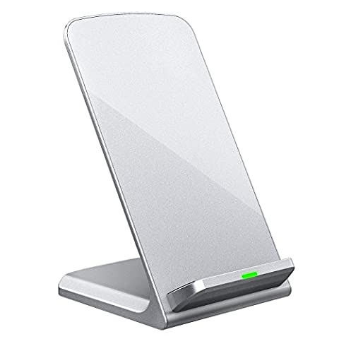 iPhone X Wireless Charger, Turbot 3-Coil Qi Wireless Charger Stand Pad for iPhone 8/8 Plus, iPhone X, Samsung Galaxy Note8, S8/S8 Plus/S7/S7 Edge/S6 Edge Plus, LG G6 and All QI-Enabled (Verizon Compatible Android Phone)