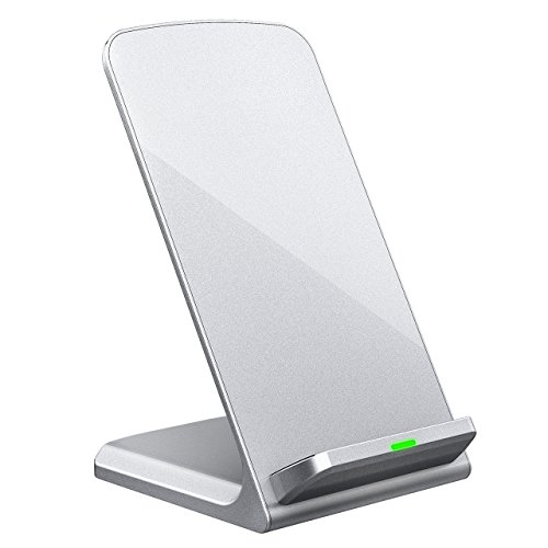Price comparison product image Turbot Wireless Charger, 3-Coil Qi Wireless Charging Stand Pad for Samsung Galaxy S8, S8 Plus, S7, S7 Edge, S6 Edge Plus, Nexus 7/6/5/4, Nokia Lumia 1520 and All QI-Enabled Devices