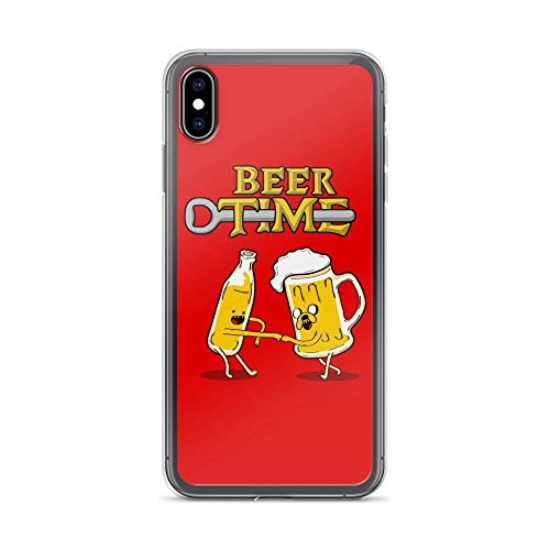 Compatible for iPhone Xs Max It's Beer Time Funny Drinking Partner Cartoon