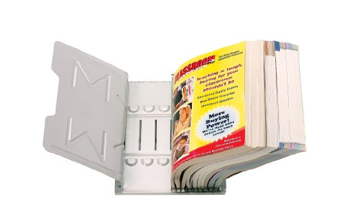 Rack Ring Catalog - Master Catalog Rack, Organizes and Displays Catalogs/Magazines/Loose-Leaf Materials, Gray (MAT6G)
