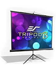 Elite Screens Tripod B Series, 85-Inch 1:1, Lightweight Portable Pull Up Projector Projection Screen, T85SB