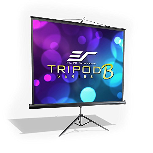 Elite Screens Tripod B, 113-INCH 1:1, Lightweight Pull Up Foldable Stand, Manual, Movie Home Theater Projector Screen, 4K / 8K Ultra HDR 3D Ready, 2-Year Warranty, -