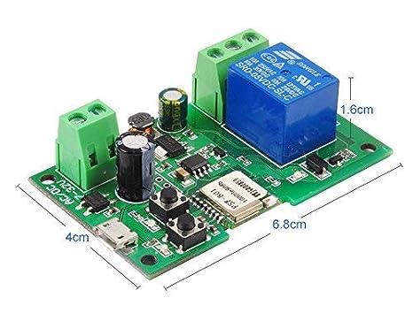 DIY 5V 12V Inching//Self-locking Wifi Switch Module 1ch dc7-32v