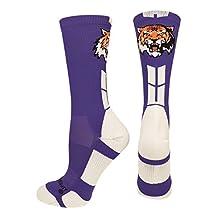 MadSportsStuff Tigers Logo Athletic Crew Socks (multiple colors)