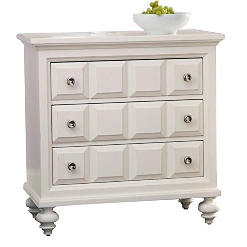 Wood Bachelor Chest - American Drew Lynn Haven 3 Drawer Wood Bachelor's Chest in White
