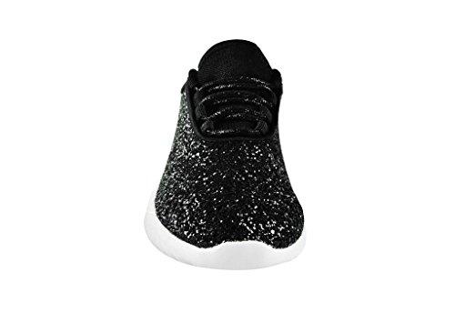 ROXY ROSE Damenmode Jogger Sneaker - Leichte Glitter Stepp Schnürschuhe & elastische Zunge Schwarz