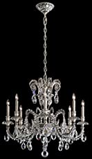 Schonbek GE4708N-86CR Genzano 8 Light Traditional Chandelier In Midnight Gild With Clear Crystal Rock Trim