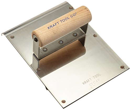 Kraft Tool CF046 Stainless Steel Hand Edger/Groover 1/2-Inch Radius with Wood Handle, 6 x 8-Inch by Kraft Tool