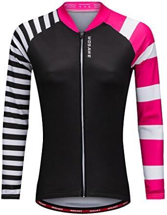 全4サイズ サイクリングウェア ジャージー ロングスリーブ トップシャツ 高弾性 通気性 レディース