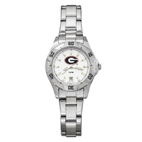 NCAA Georgia Bulldogs Women's All-Pro Chrome Watch by Logo Art