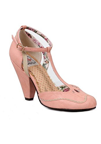 Bettie Page 4 Inch Closed toed Heel Pink 0VZnVO9