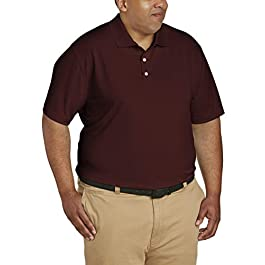 Amazon Essentials Men's Quick-Dry Golf Polo fit by DXL